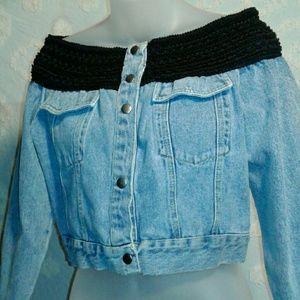 Vintage Contempo casuals crop jean jacket